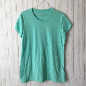 patagonia Mint Green Flutter Slv Fitted Tee Shirt